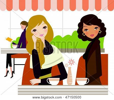 ladies drinking coffee