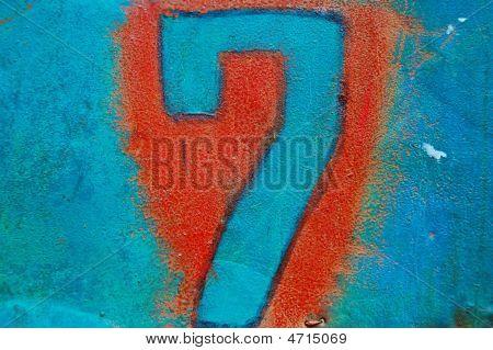 Grunge Seven Number