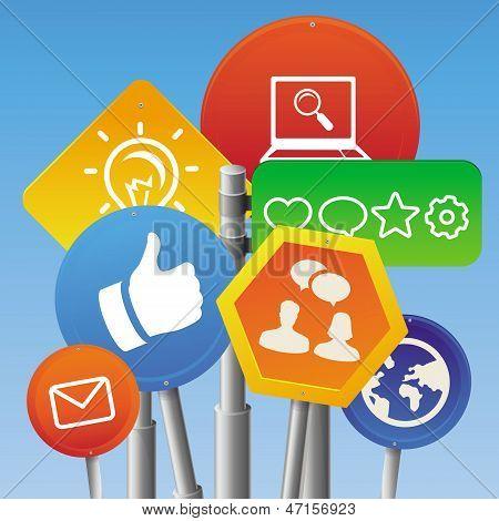 Concepto de Vector Internet Marketing