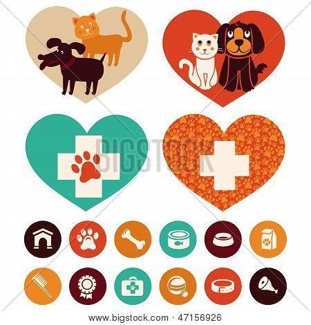 Vector Veterinary Signs