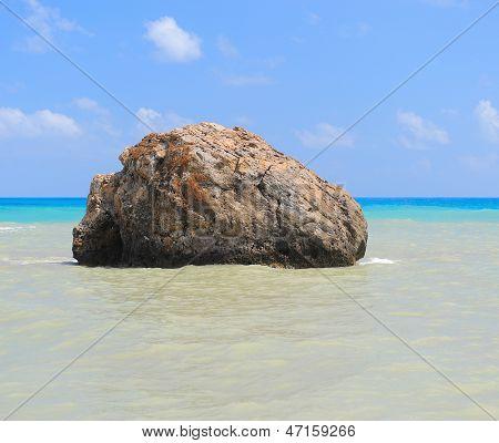 Sea rock birthplace of Aphrodite