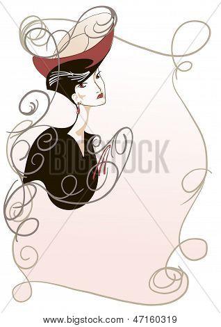 Decorative Portrait Of A Beautiful Woman