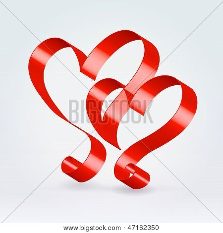 Silk Couple Hearts