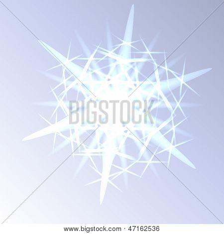 Shining Magic Snowflake Closeup