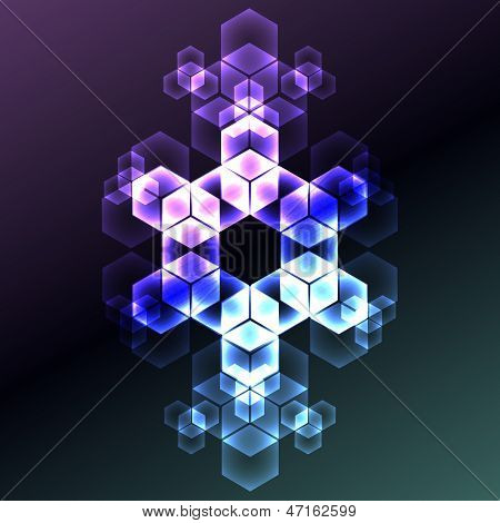 Abstract Snowflake Decorative Background