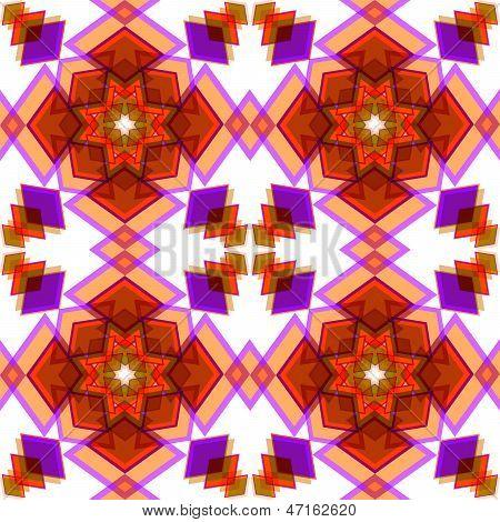 Orange  Festive Christmas Star Seamless Pattern