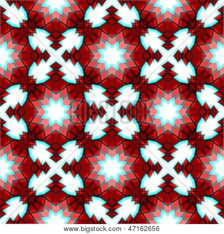 Red Festive Christmas Star Seamless Pattern