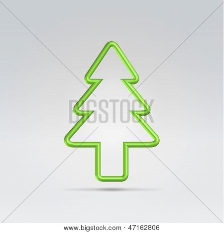Christmas Fur Tree  Minimalistic Symbol