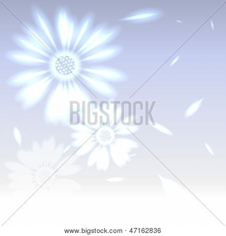 Romantic Snowy Flower Made Of Light