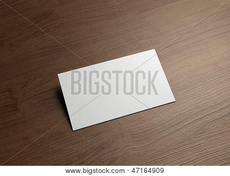 Namecard horizontaal 45 graden hout