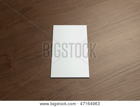 Namecard Vertical Front Wood