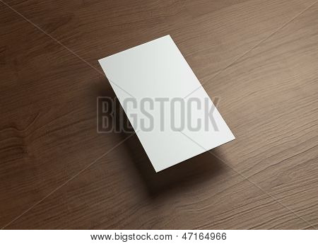 Namecard Vertical Left Float Style Wood