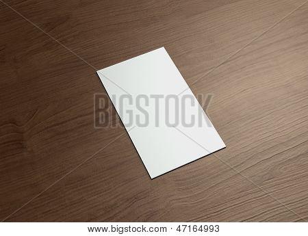 Namecard verticaal links hout