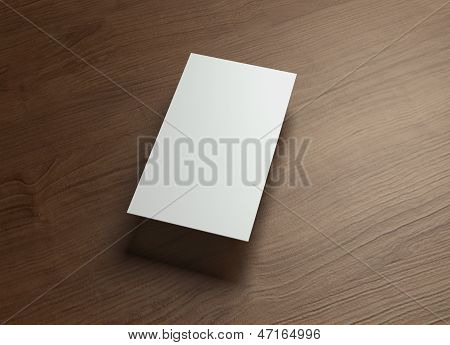 Namecard Vertical Right Float Style Wood