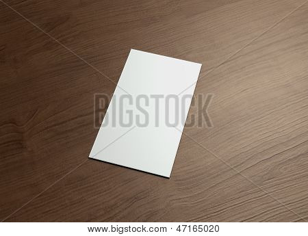 Namecard Vertical Right Wood