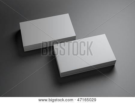 2 Sets van naamkaartjes horizontaal B