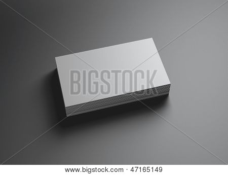 Set van naamkaartjes horizontaal links