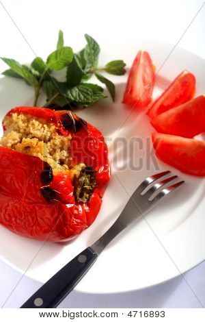Cous-cous Stuffed Peppers Vertical