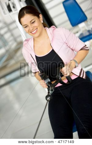 Happy Woman Exercising
