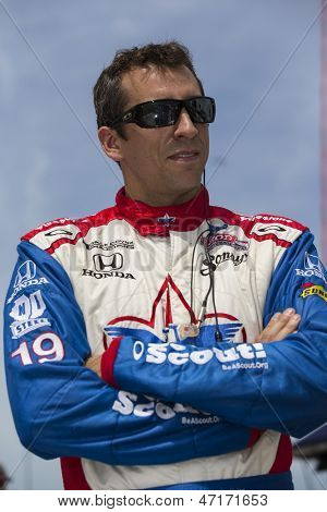 Fort Worth, TX - Jun 07, 2013:  Justin Wilson (19) takes to the track for a practice session for the Firestone 550 race at the Texas Motor Speedway in Fort Worth, TX on June 07, 2013.