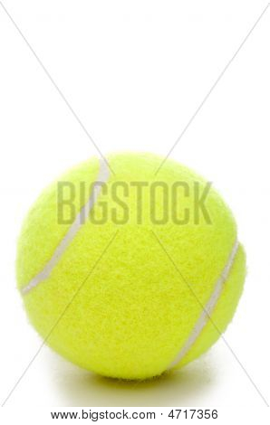 Closeup Of A Yellow Tennis Ball