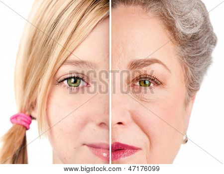 Beautiful Ageing Face Eyes