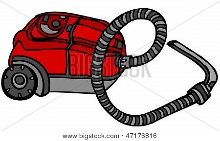 Isolated Vector Illustration of Vacuum Cleaner Hoover