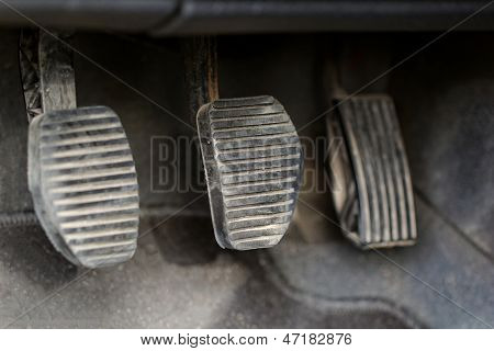 Three Car Pedals