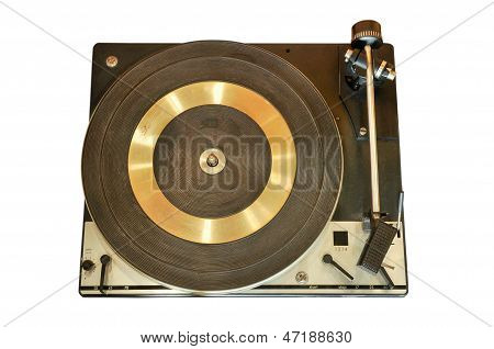 Vintage Record Player Isolated