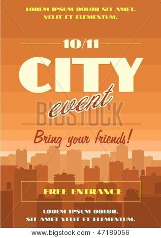 City event vector poster