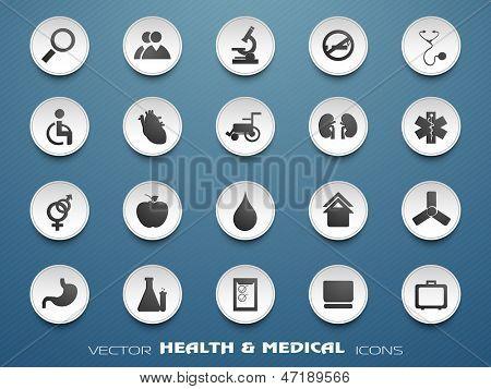 Medical icons set . EPS 10