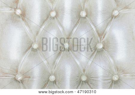 Texture Of White Vintage Sofa