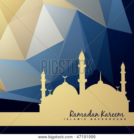 beautiful background of mosque and abstract background