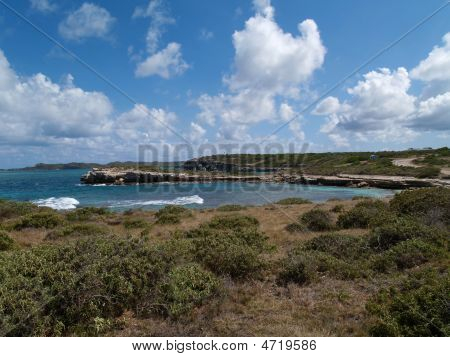 View Near Devils Bridge On Antigua Barbuda
