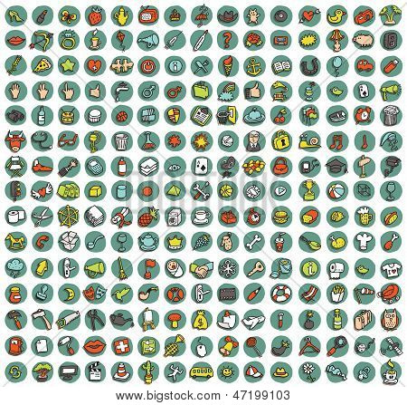 Collection Of 225 Doodled Icons For Every Occasion