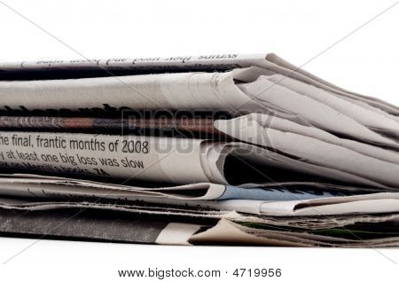A Stack Of Newpapers