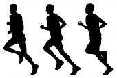 pic of olympiade  - Abstract vector illustration of marathon runners silhouettes - JPG