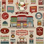 foto of hamburger  - Collection of Restaurant Design Elements - JPG