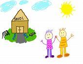 Children Welcoming You To School