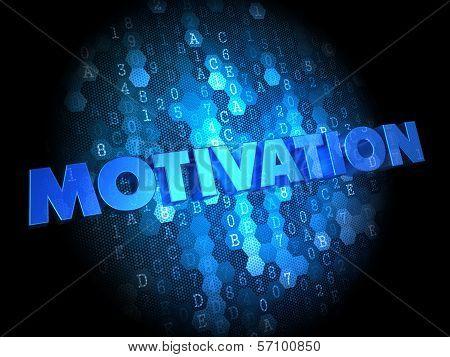 Motivation on Dark Digital Background.