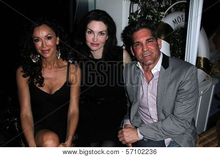Sofia Milos, Elena Lyons Cardone, Grant Cardone at the Nathanaelle Fashion Show, Skybar, West Hollywood, CA. 03-15-11