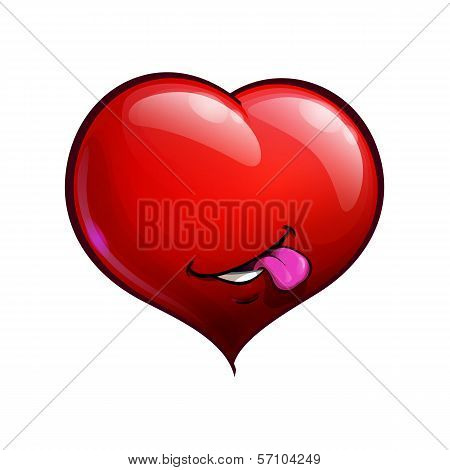 Heart Faces Happy Emoticons - Tongue