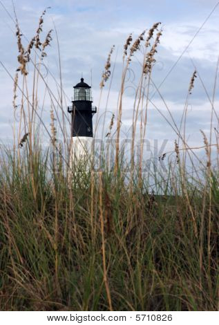 Lighthouse and Sea Oats