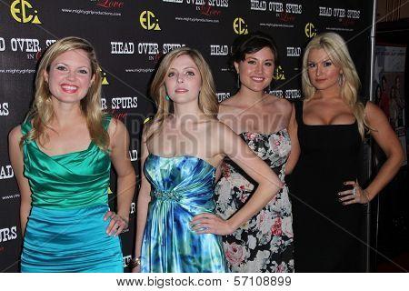 Jen Lilley, Jen Lilley, Leena Huff, Mara Marie at the