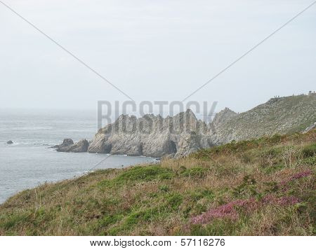 Pointe Du Van And Sea Coast In Brittany