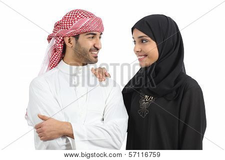 Saudi Arab Couple Marriage Looking With Love