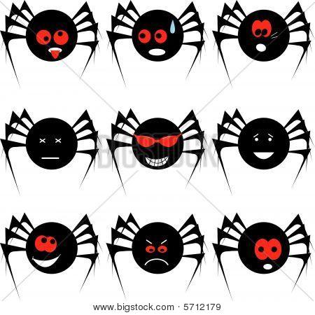Spider set for Halloween