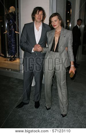 Paul WS Anderson and Milla Jovovich at the Tom Ford Beverly Hills Store Opening, Tom Ford, Beverly Hills, CA. 02-24-11
