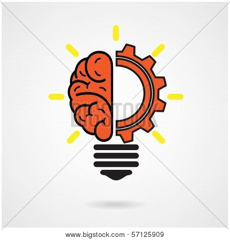 Creative brain Idea concept background