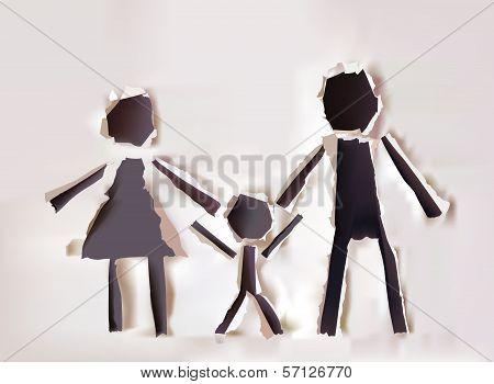 Parenthood illustration, mother and child